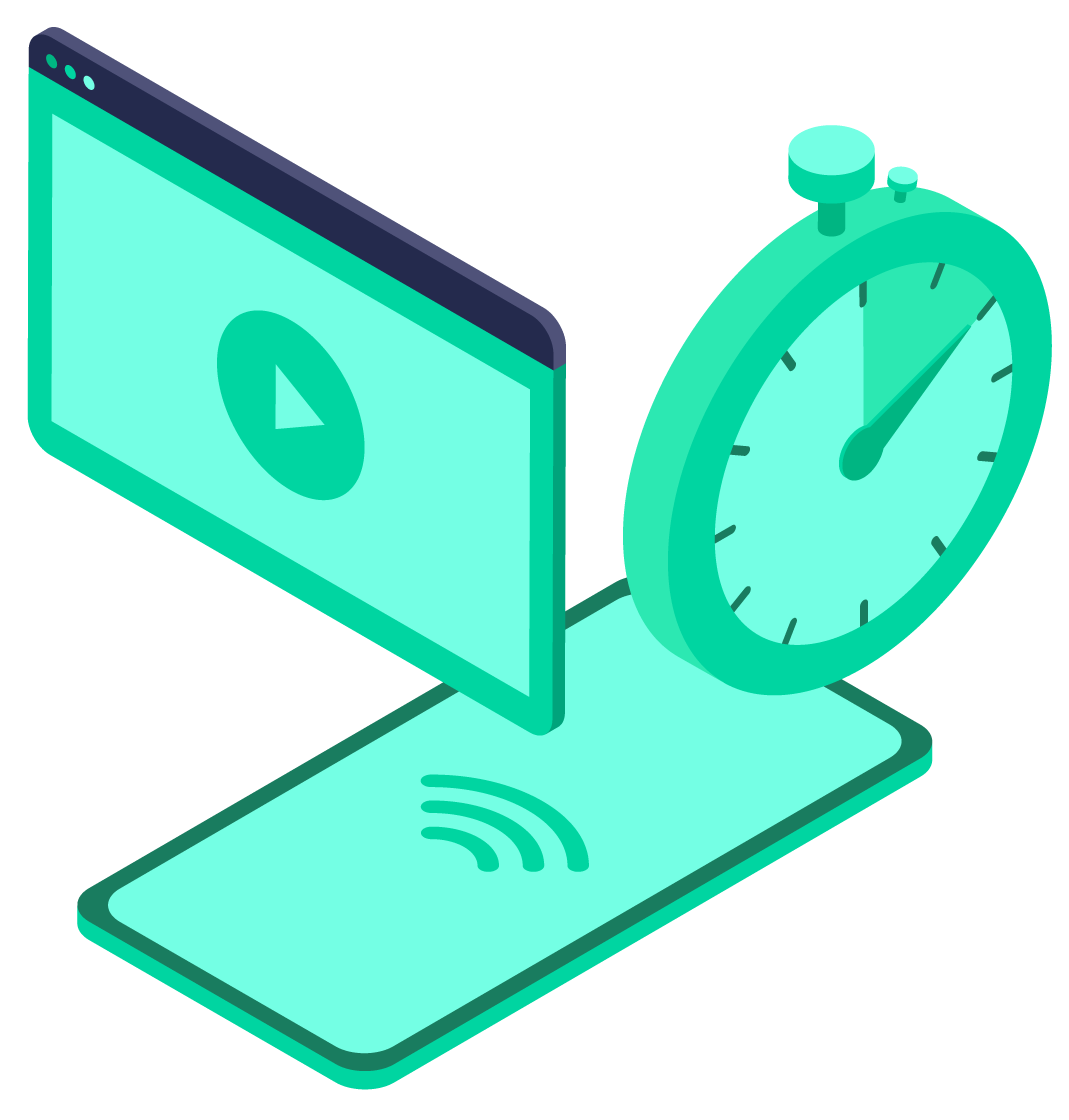 Pangea Protect: Mobile Content Filtering illustration showing how we improve productivity and keep mobile data usage in check