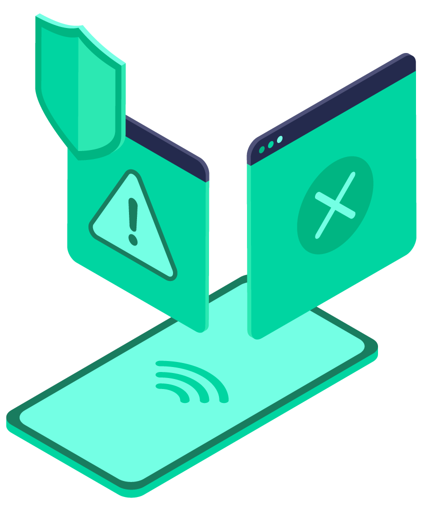 Pangea Protect: Mobile Content Filtering illustration showing how we protect vulnerable users and meet Internet compliance regulations