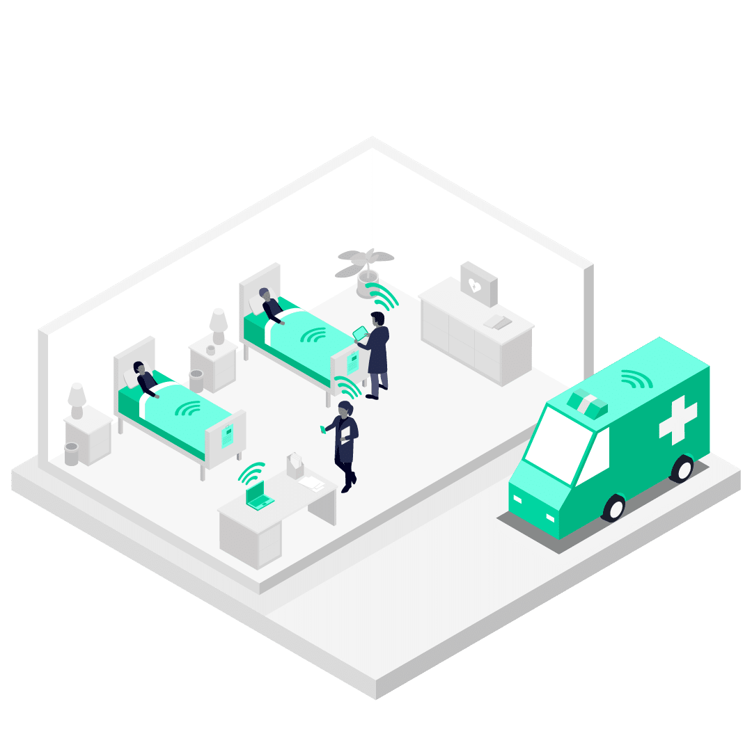 Illustration showing how Pangea Protect: Mobile Content Filtering could benefit healthcare