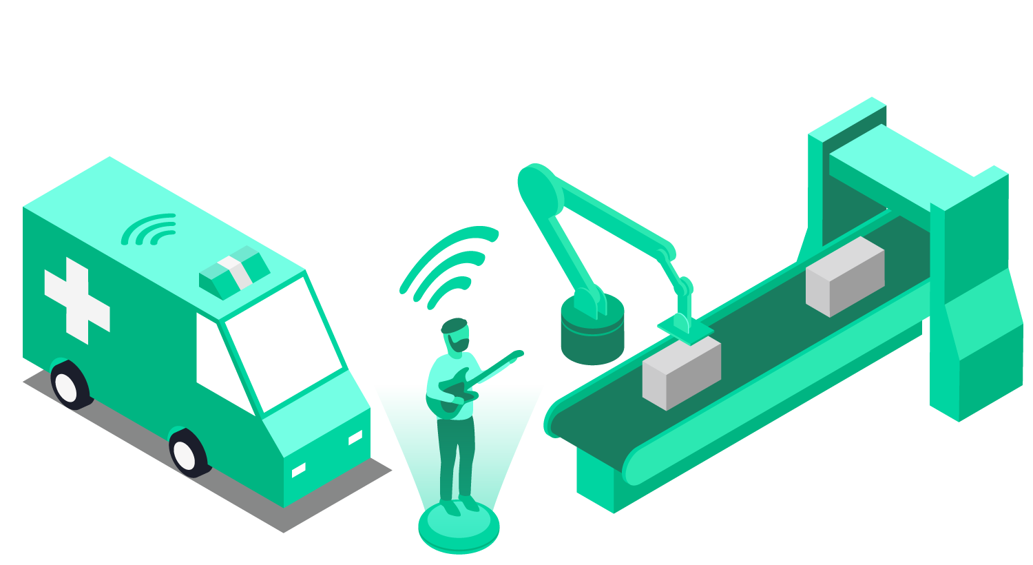 5G connectivity applications: ambulances, AR, robots in manufacturing
