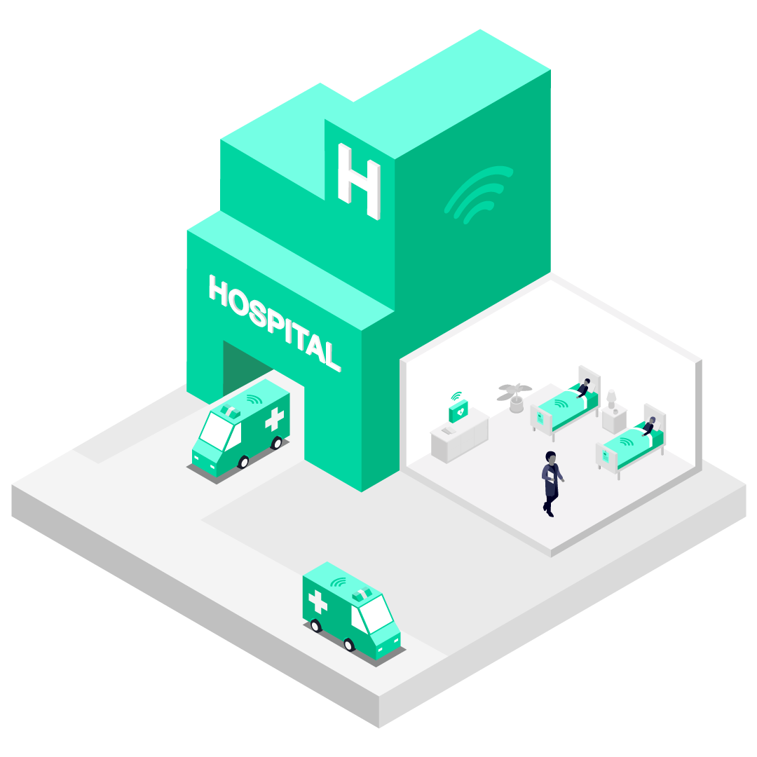 Illustration showing how 5G connectivity could benefit a hospital