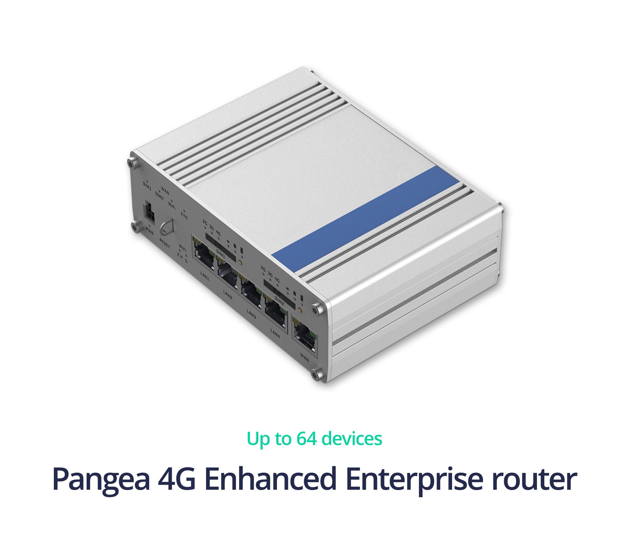 Pangea Soho router - Pangea 4G Enhanced Enterprise link