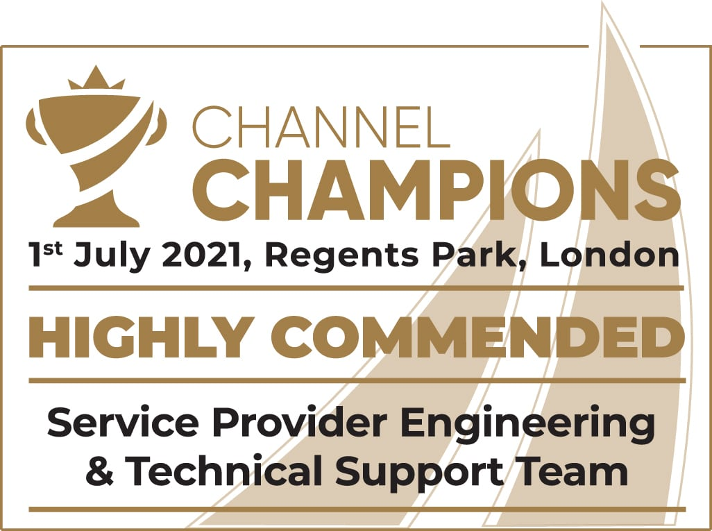 Pangea IoT News - Comms Dealer Channel Champions 2021 - Service Provider Engineering & Technical Support Team Highly Commended