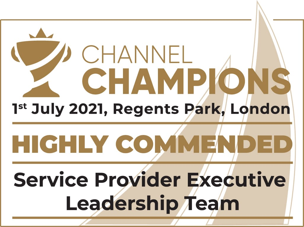 Pangea IoT News - Comms Dealer Channel Champions 2021 - Service Provider Executive Leadership Team Highly Commended