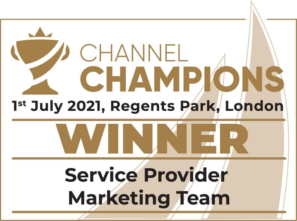 Pangea IoT News - Comms Dealer Channel Champions 2021 - Service Provider Marketing Team Winners