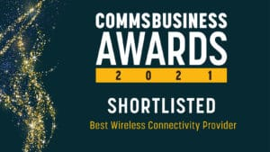 Comms business awards 2021 banner